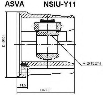 Шарнирный комплект, приводной вал ASVA NSIUY11
