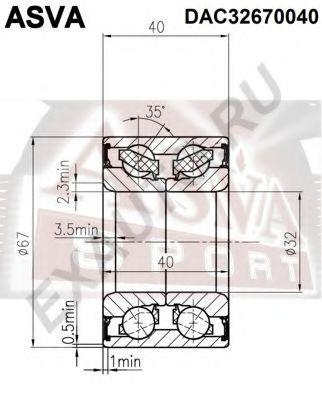 Подшипник ступицы колеса ASVA DAC32670040