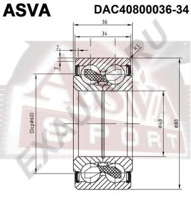 Подшипник ступицы колеса ASVA DAC4080003634