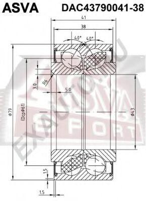 Подшипник ступицы колеса ASVA DAC4379004138