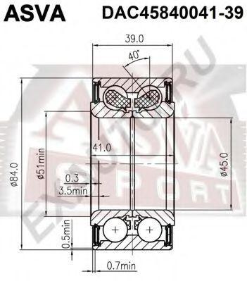 Подшипник ступицы колеса ASVA DAC4584004139