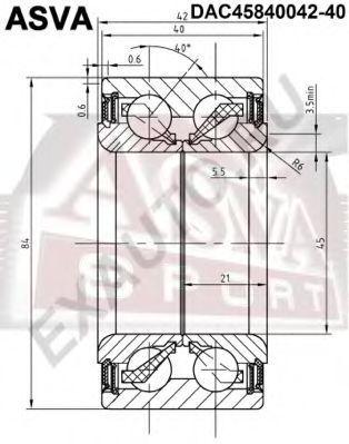 Подшипник ступицы колеса ASVA DAC4584004240