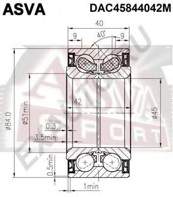 Подшипник ступицы колеса ASVA DACM45844042