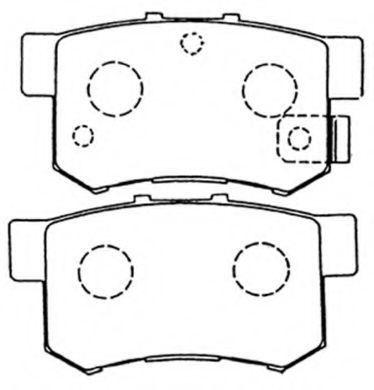 Комплект тормозных колодок, дисковый тормоз ASVA AKD1119