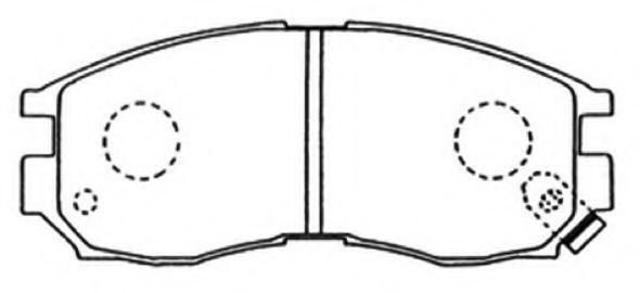 Комплект тормозных колодок, дисковый тормоз ASVA AKD1120