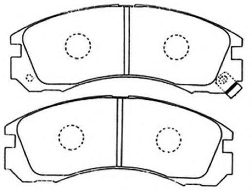 Комплект тормозных колодок, дисковый тормоз ASVA AKD3233