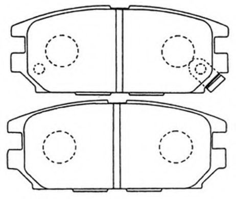 Комплект тормозных колодок, дисковый тормоз ASVA AKD3272