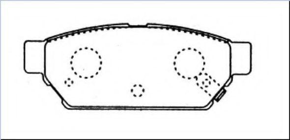 Комплект тормозных колодок, дисковый тормоз ASVA AKD3314