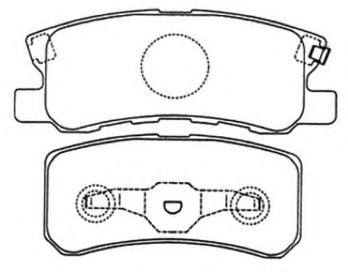 Комплект тормозных колодок, дисковый тормоз ASVA AKD3450