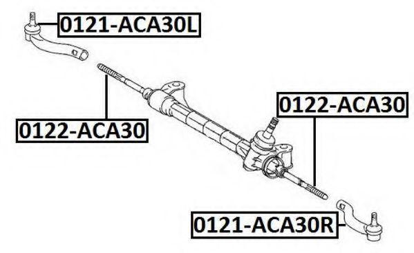 Наконечник поперечной рулевой тяги ASVA 0121ACA30R