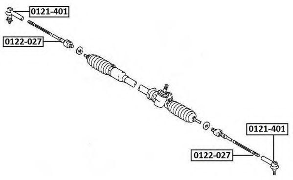 Осевой шарнир, рулевая тяга ASVA 0122027