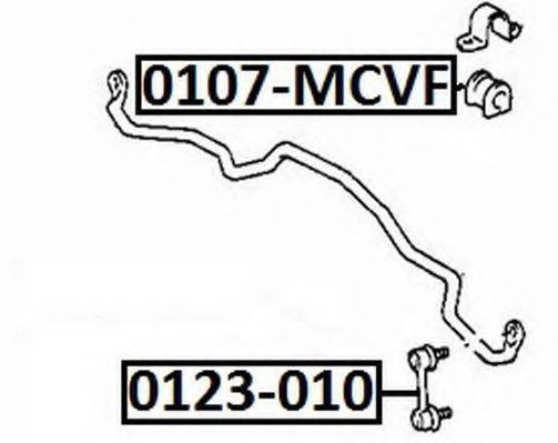 Тяга / стойка, стабилизатор ASVA 0123010