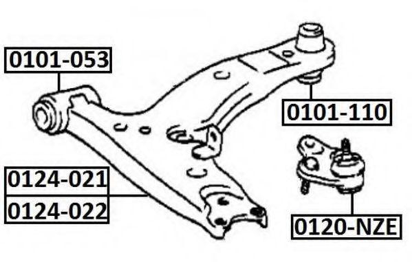 Рычаг независимой подвески колеса, подвеска колеса ASVA 0124022