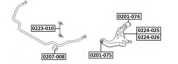 Тяга / стойка, стабилизатор ASVA 0223010