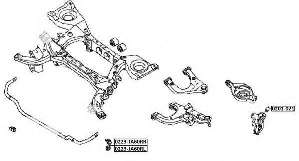 Тяга / стойка, стабилизатор ASVA 0223JA60RR