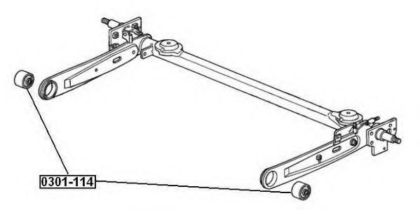 Подвеска, рычаг независимой подвески колеса ASVA 0301114