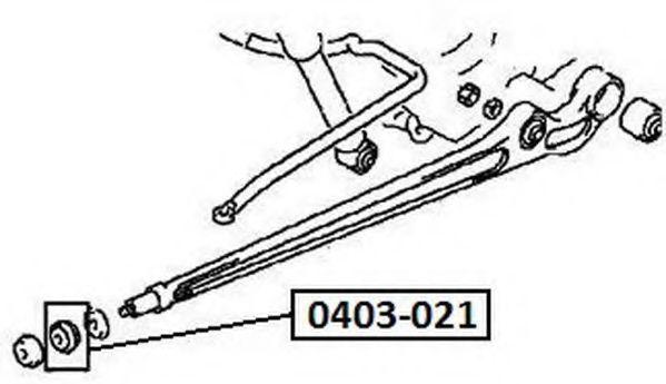 Ремкомплект, опора стойки амортизатора ASVA 0403021
