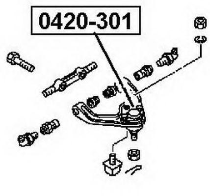 Несущий / направляющий шарнир ASVA 0420301