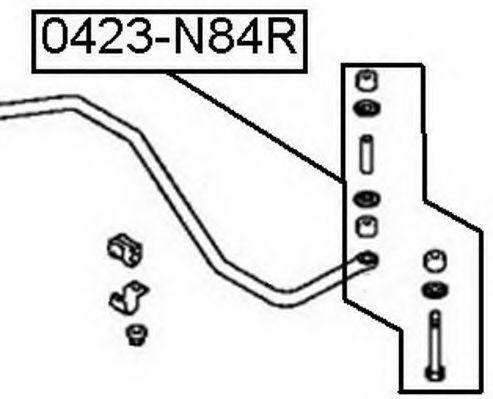 Тяга / стойка, стабилизатор ASVA 0423N84R