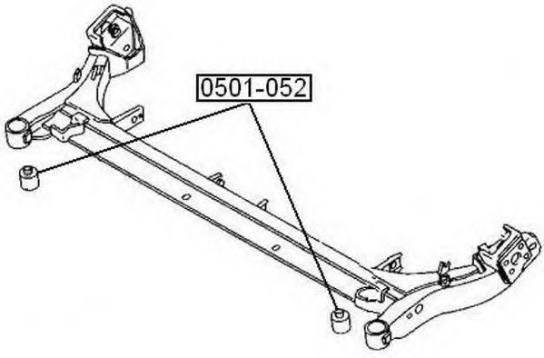 Подвеска, рычаг независимой подвески колеса ASVA 0501052