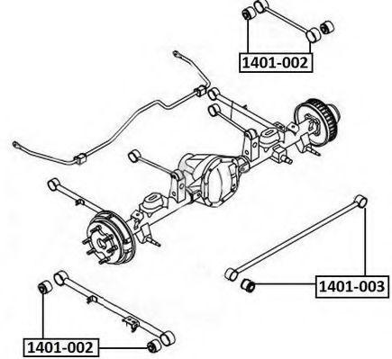 Подвеска, рычаг независимой подвески колеса ASVA 1401002