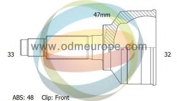 Шарнирный комплект, приводной вал ODM-MULTIPARTS 12001364