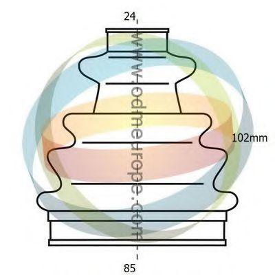 Комплект пылника, приводной вал ODM-MULTIPARTS 21990021