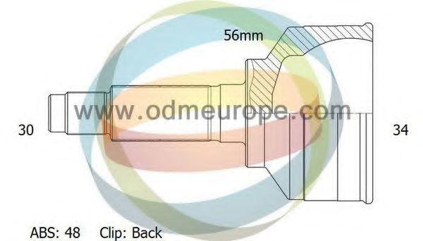 Шарнирный комплект, приводной вал ODM-MULTIPARTS 12090216
