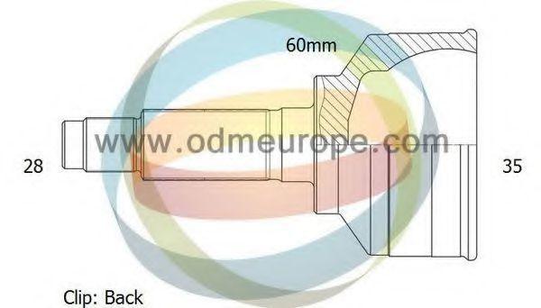 Шарнирный комплект, приводной вал ODM-MULTIPARTS 12141449
