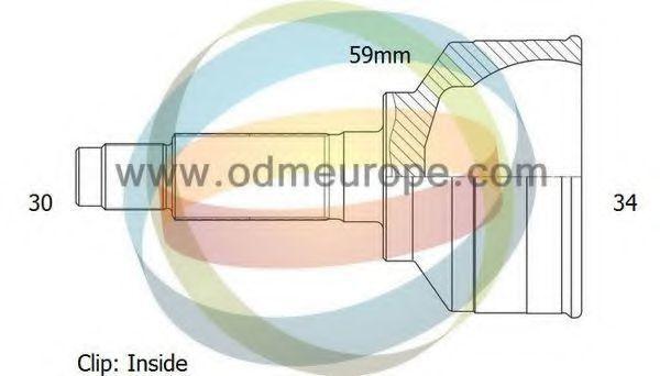 Шарнирный комплект, приводной вал ODM-MULTIPARTS 12001914