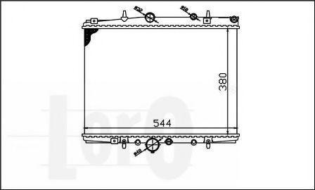 Радиатор охлаждения DEPO 0090170004