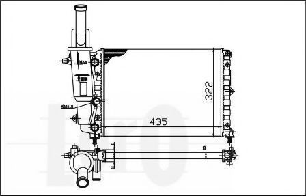 Радиатор охлаждения DEPO 0160170005
