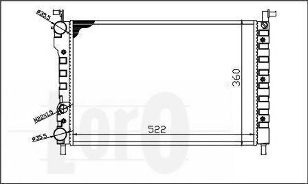 Радиатор охлаждения DEPO 0160170010