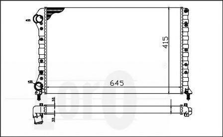 Радиатор охлаждения DEPO 0160170019