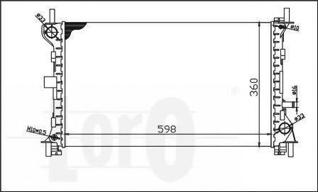 Радиатор охлаждения DEPO 017-017-0006
