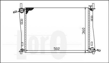 Радиатор охлаждения DEPO 0170170018