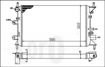 Радиатор охлаждения DEPO 017-017-0025