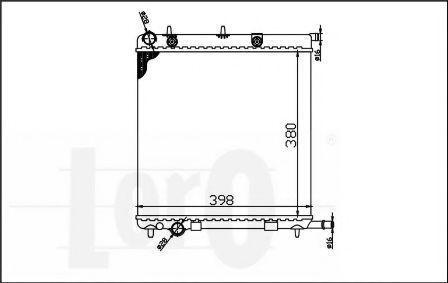 Радиатор охлаждения DEPO 038-017-0006