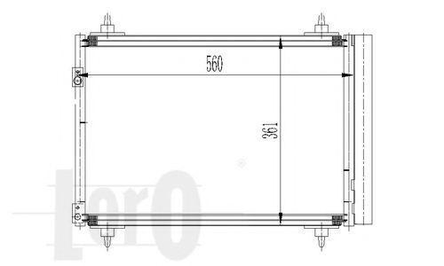 Конденсор кондиционера DEPO 0090160016