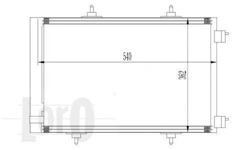 Конденсор кондиционера DEPO 0090160020