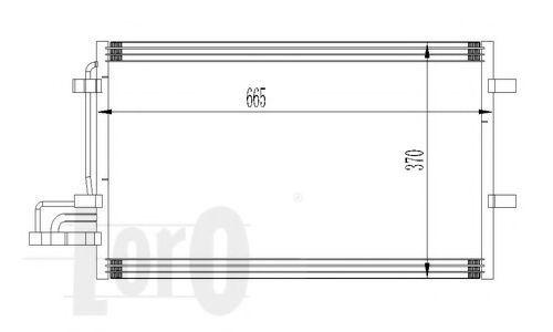 Конденсор кондиционера DEPO 0170160015