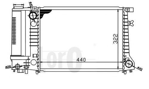 Радиатор охлаждения DEPO 0040170004