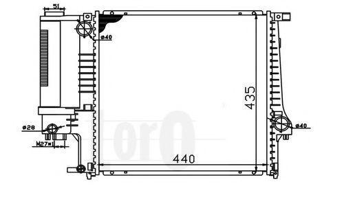 Радиатор охлаждения DEPO 0040170016