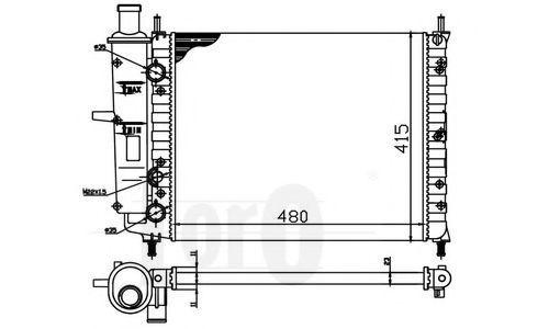 Радиатор охлаждения DEPO 0160170009