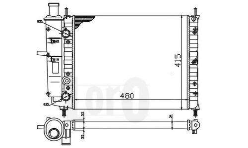 Радиатор охлаждения DEPO 0160170029