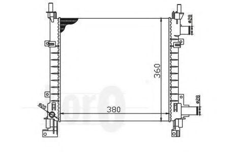 Радиатор охлаждения DEPO 0170170003
