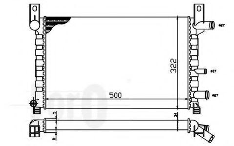 Радиатор охлаждения DEPO 017-017-0011
