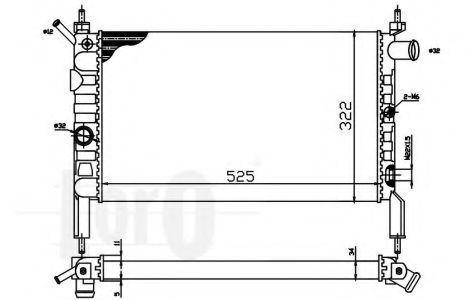 Радиатор охлаждения DEPO 0370170002