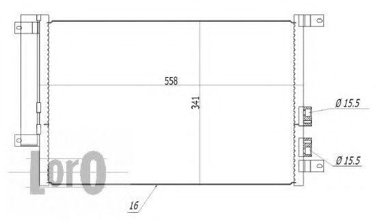 Радиатор кондиционера DEPO 002-016-0001