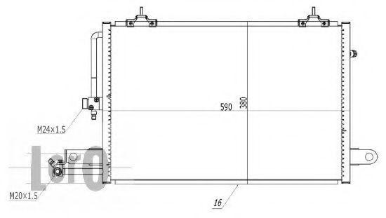 Радиатор кондиционера DEPO 003-016-0004